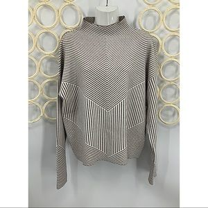 Cynthia Rowley striped funnel neck sweater